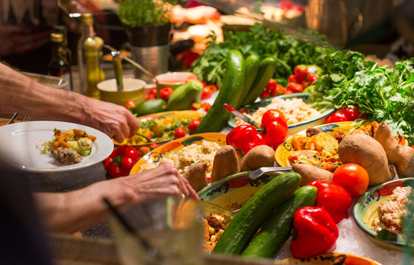 Salat- und Gemüse-Buffet