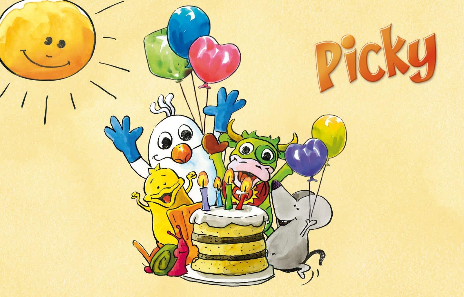 Picky, Geburtstagsfest, Geburtstag, Kinder, Kinderparty