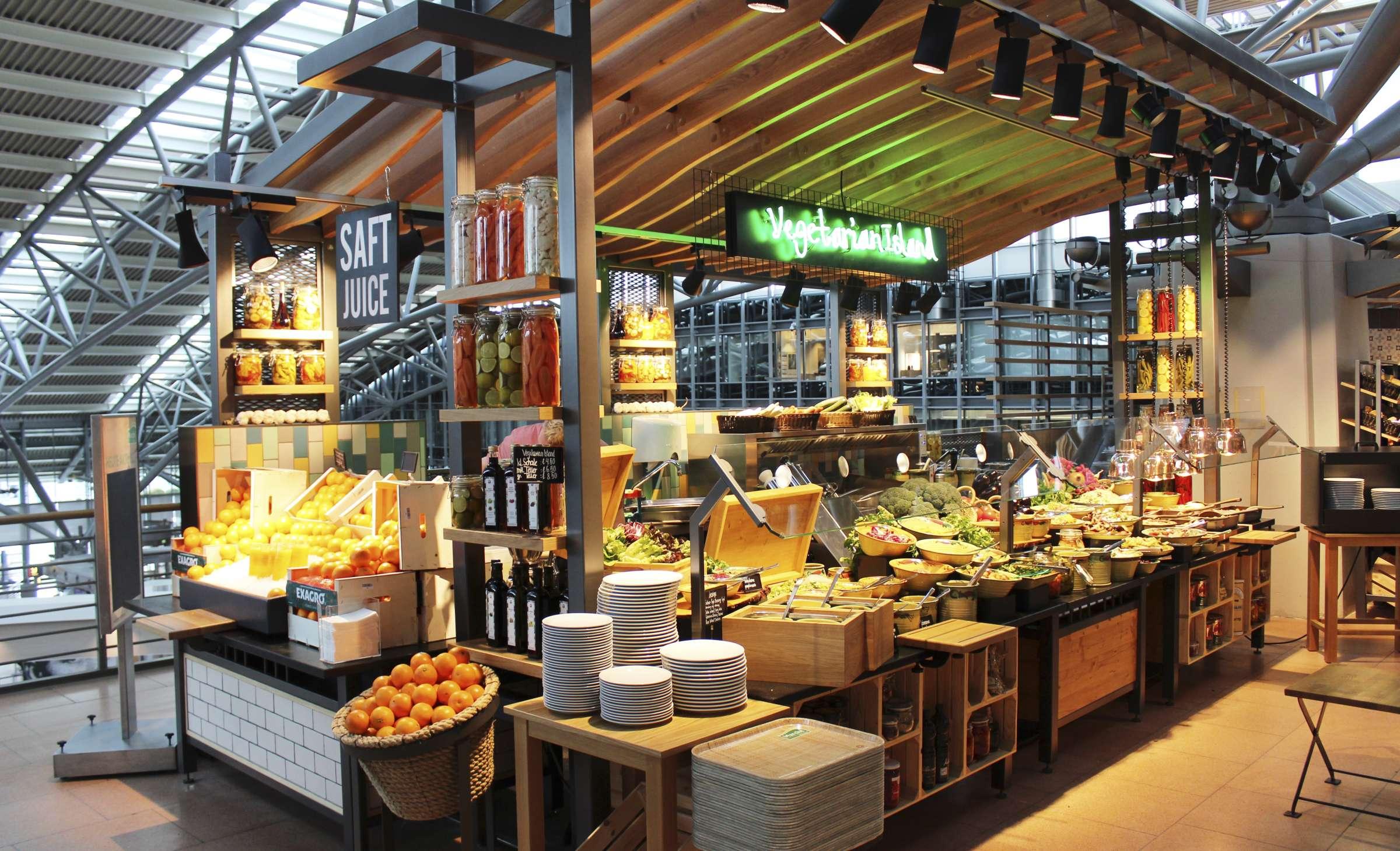 Vegetarian Island, Hamburg Airport, Veggie