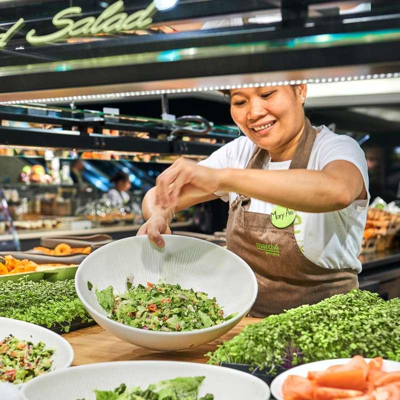 salad buffet, fresh salad
