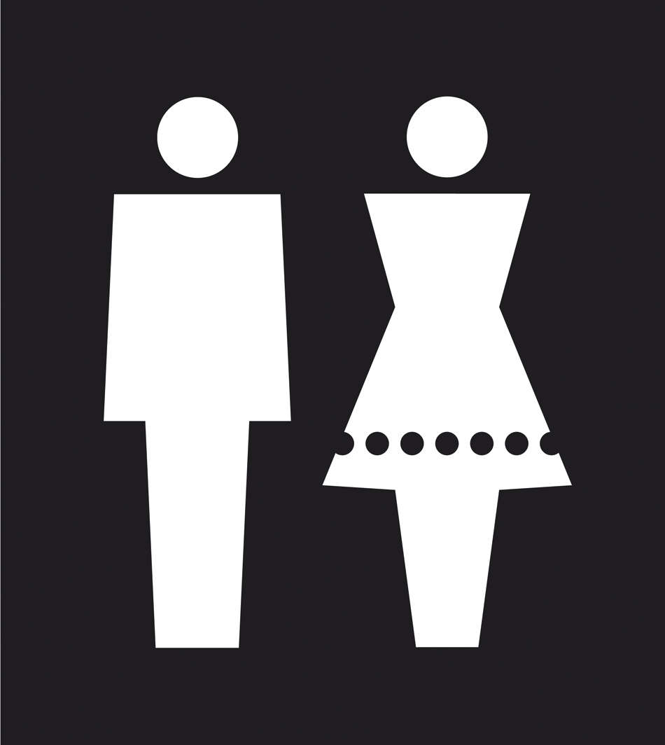 male toilets, female toilets